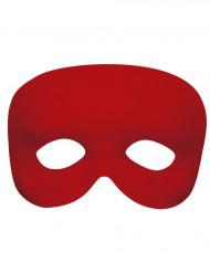 Rød halvmaske voksen