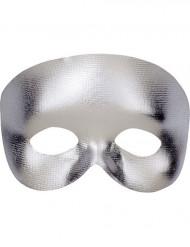 Sølvfarvet halvmaske voksen