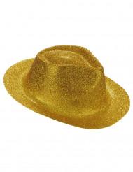 Glitrende guldfarvet hat voksen