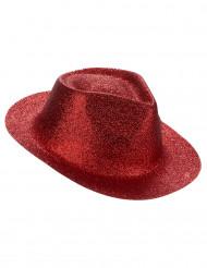 Glitrende, rød hat voksen