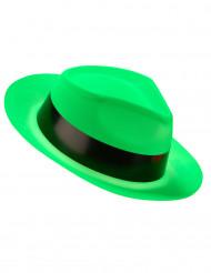 Neongrøn gangsterhat voksen
