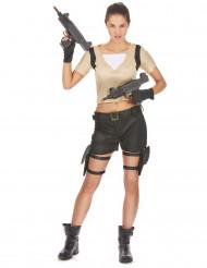 Soldatkvinde - udklædning voksen