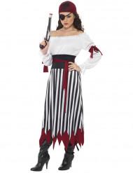 Kostume pirat stribet kvinde