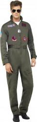 Kostume luksus pilot Top Gun™ voksen