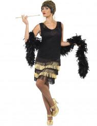Kostume Charleston sort og forgyldt til kvinder