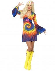 Kostume hippie farverig kvinde
