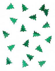 Konfetti juletræ metallisk grøn