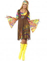 Udklædningsdragt hippie blomster 70