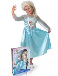 Kostume Elsa Frost™ med paryk piger
