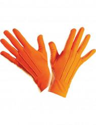 Korte orange handsker voksenstørrelse