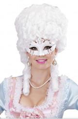 Hvid venidinspirered maske voksenstørrelse