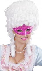 Lyserød venediginspirered maske voksenstørrelse