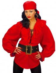 Rød piratskjorte kvinde