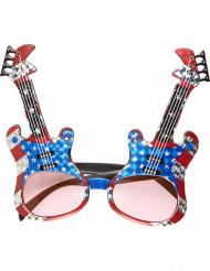Briller amerikansk rockguitar voksen