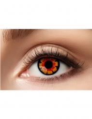 Kontaktlinser fantasy røde og sorte voksen