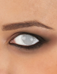 Kontaktlinser fantasy korsmønster hvidt voksen