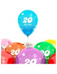 Balloner 8 stk. 20 år