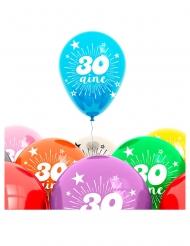 Balloner 8 stk. 30 år