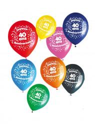 Balloner 8 stk. 40 år