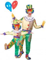 Par kostume klovne far og søn