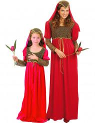 Middelalder prinsesser - Parkostume til mor og datter