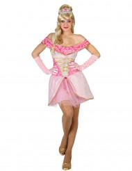 Kostume sexet prinsesse lyserød kvinde