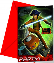 Invitationer 6 stk. Star Wars Rebels™