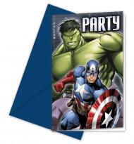 8 Invitationskort Avengers™