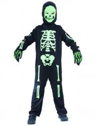 Grønt skeletkostume barn