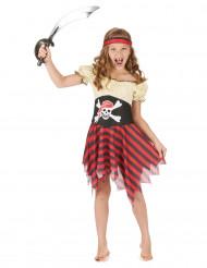 Miss skull - piratkostume til piger