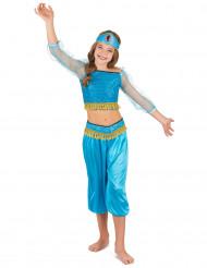 Kostume danserinde orientalsk blå til piger