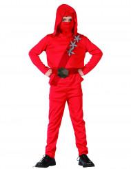 Den røde ninja - Rødt ninjakostume til drenge