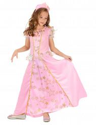 Lyserødt prinsessekostume piger