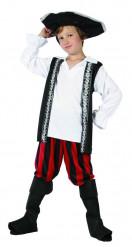Piratkostume med dødningehoved barn