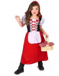 Rød skovprinsesse - udklædning til børn