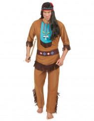 Udklædningsdragt indianer voksen