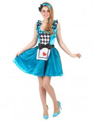 Udklædningsdragt Eventyrprinsesse Alice i Eventyrland Voksen