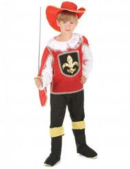 Rødt musketerkostume dreng