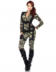 Militærkostume med sele til kvinder