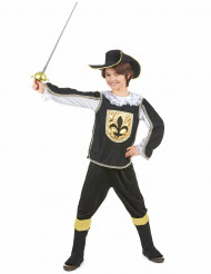 Musketer-kostume i sort og guld drenge