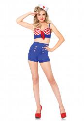kostume marine sexet blå shorts kvinde