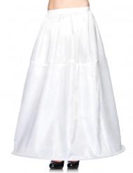 Kjoleskørt hvidt langt bredt nedadtil kvinde
