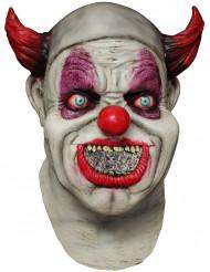 Heldækkende maske animeret klovn voksen