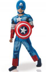 Kostume luxe Captain America™ Avengers vatteret dreng