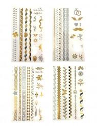 Engangstatoveringer Guld- eller sølvfarvede