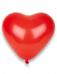 50 røde hjerteformede balloner 32 cm