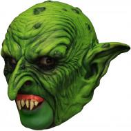 Mask 3/4 grøn dværg med falske tænder