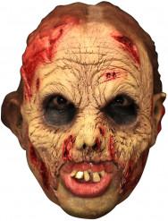 Maske 3/4 levende død deluxe med falske tænder