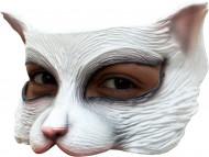 Halvdækkende maske hvid kat