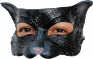 Halvdækkende maske sort kat